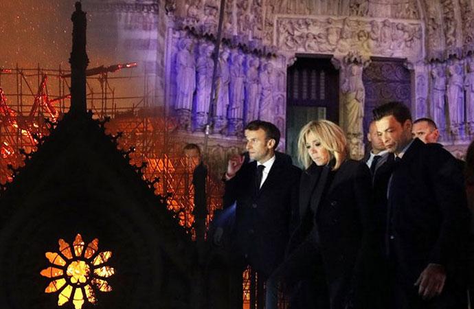 Macron: Notre Dame'ı 5 yılda yeniden yapacağız