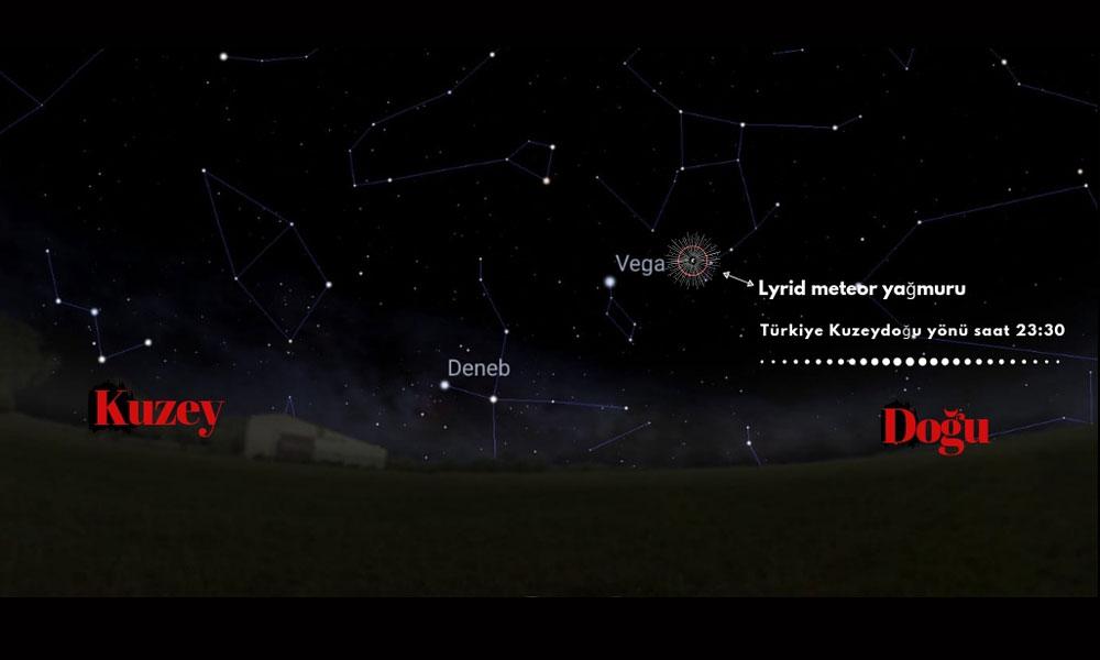 Lyrid meteor yağmuru tüm Türkiye'den izlenebilecek