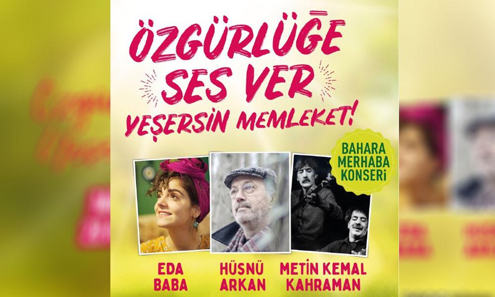 Halkevleri'nden bahara merhaba konseri: Özgürlüğe ses ver, yeşersin memleket!