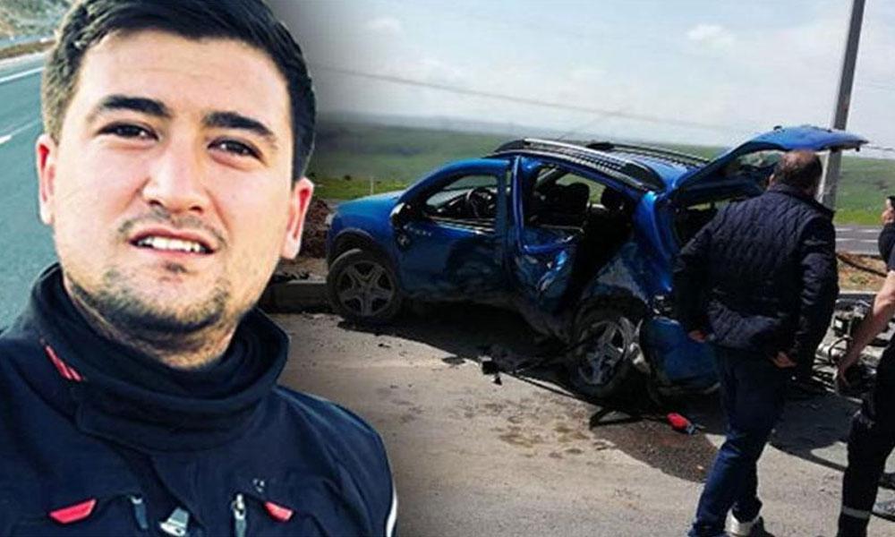Motosikletle kaza yapan polis memuru yaşamını yitirdi