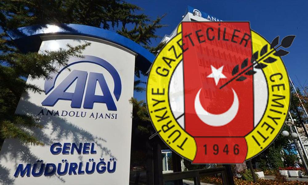Türkiye Gazeteciler Cemiyeti'nden Anadolu Ajansı'na tepki