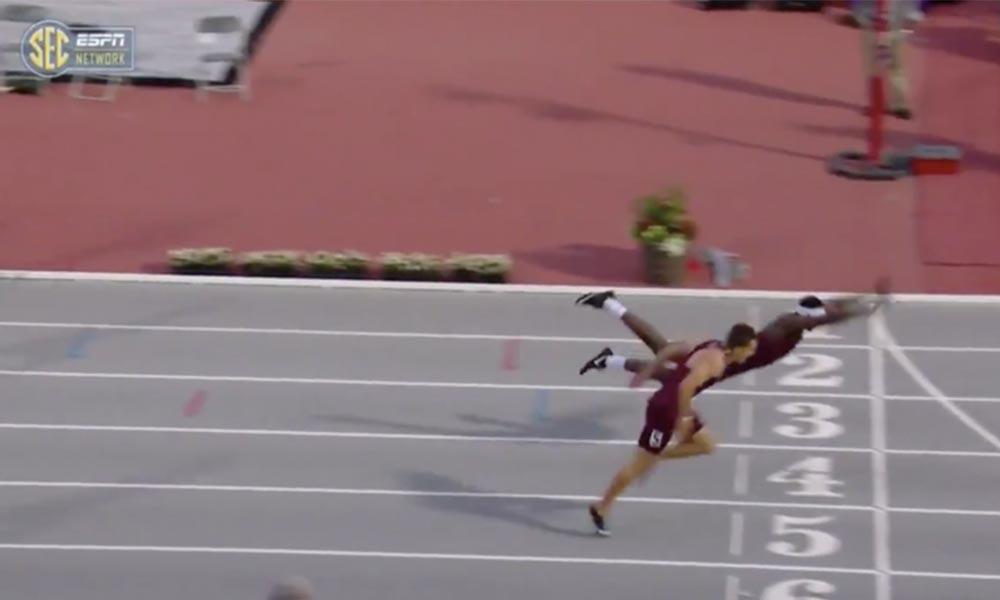 400 Metre engelli yarışında ilginç final
