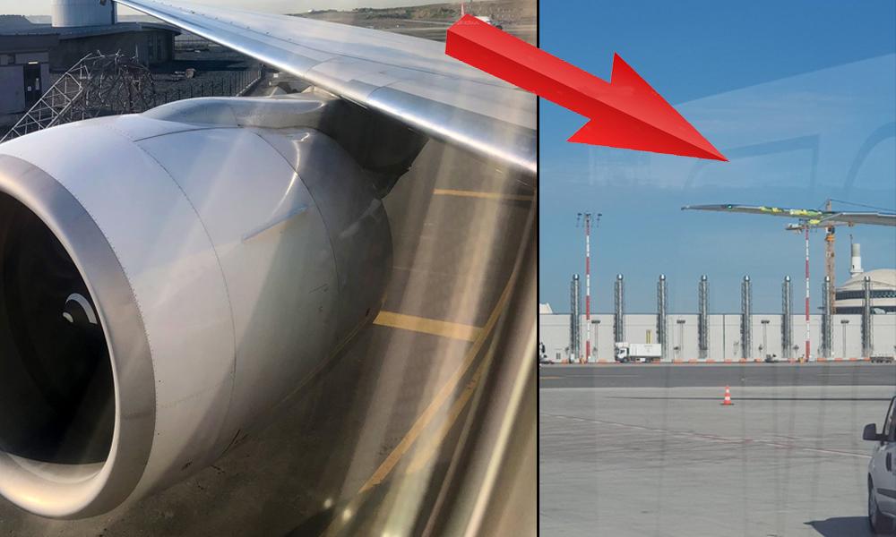 İstanbul Havalimanı'nda ilk kaza! İşte uçağın direğe çarptığı o anlar