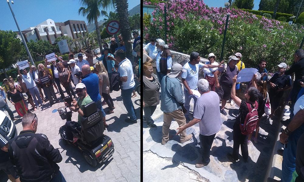 Bodrum halkı plaj işgaline karşı harekete geçti: 'Gasp edilen anayasal hakkımızı istiyoruz'