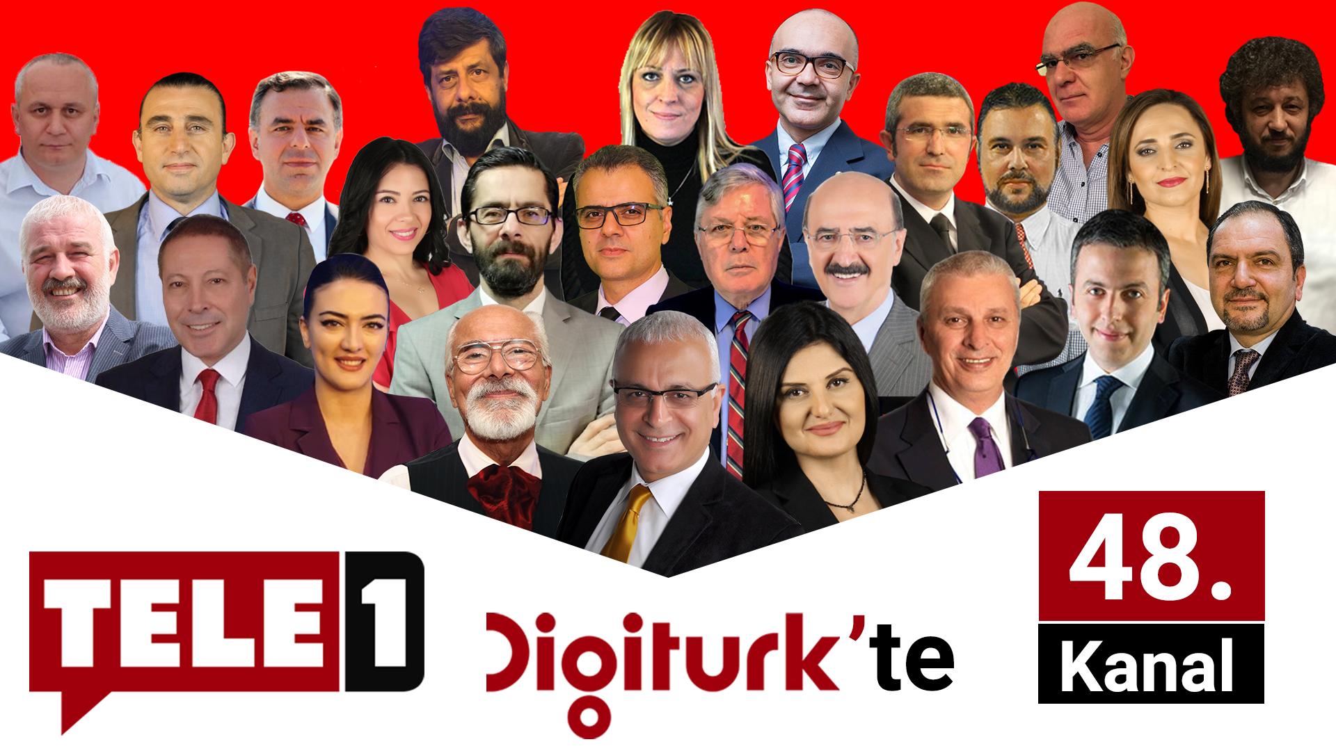 TELE1 bu akşam 24:00'dan itibaren Digiturk 48. kanalda