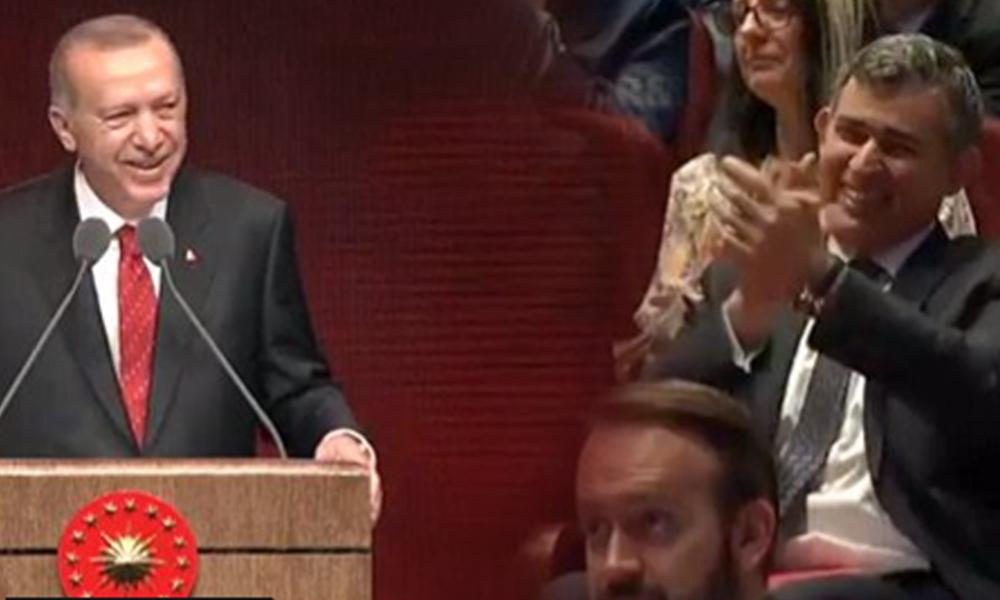 'Yeşil pasaport kendinden geçirdi' Erdoğan'ı hararetle alkışlayan Metin Feyzioğlu'na tepki yağdı!
