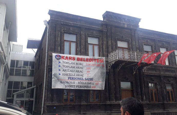 Hep zarar eden Kars Belediyesi 25 günde 923 bin 567 TL kâr etmiş