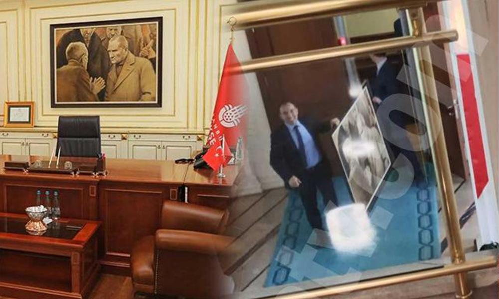 İBB'de Atatürk portresini kimin kaldırdığı ortaya çıktı