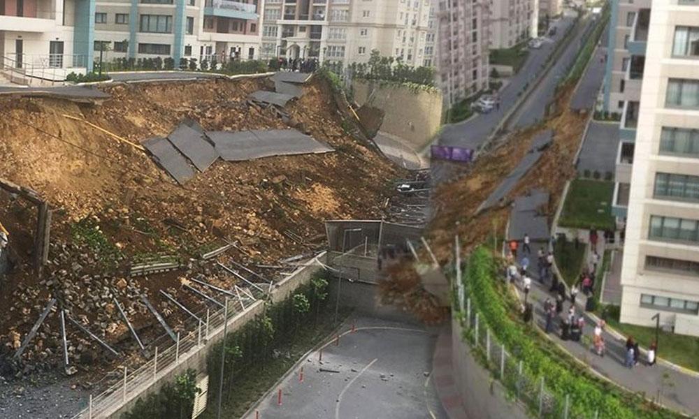 Site sakinleri uyarmıştı! Çöken istinat duvarının göçüğünde 1 kişi hayatını kaybetti