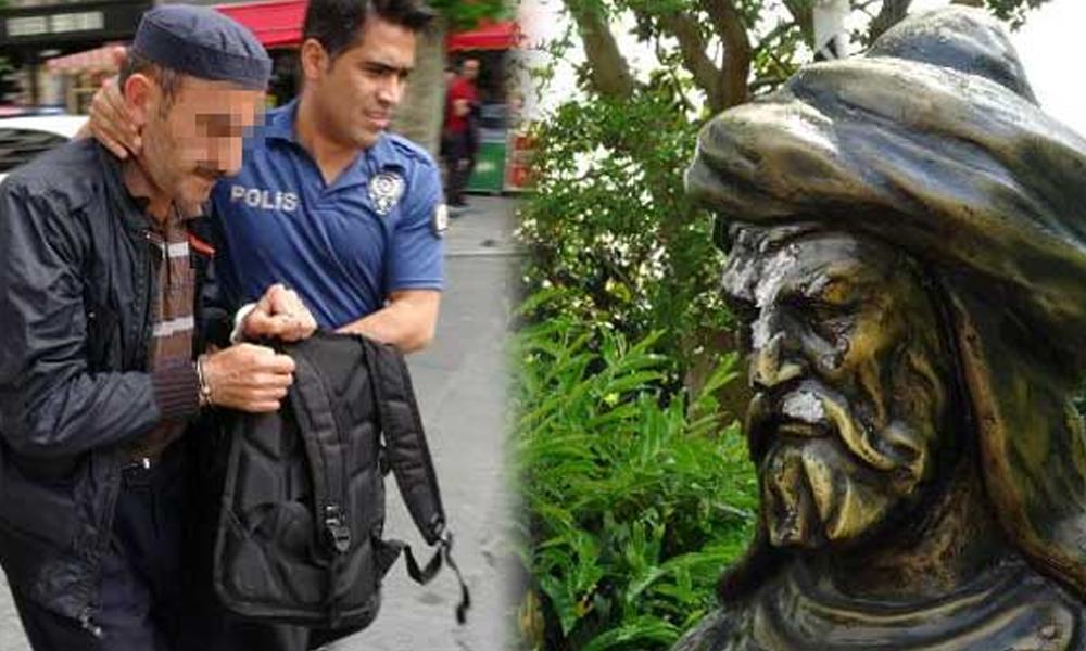 Maçka Parkı'nda heykellere baltalı saldırı!