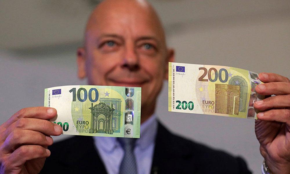 Yenilenen 100 ve 200 Euro'luk banknotlar piyasaya sürüldü