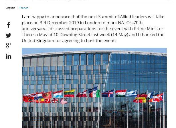 NATO 70. yıl toplantısı Londra'da yapılacak