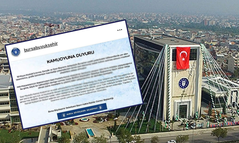 Atatürksüz pankarta AKP'den açıklama: Taslak halini asmışız!