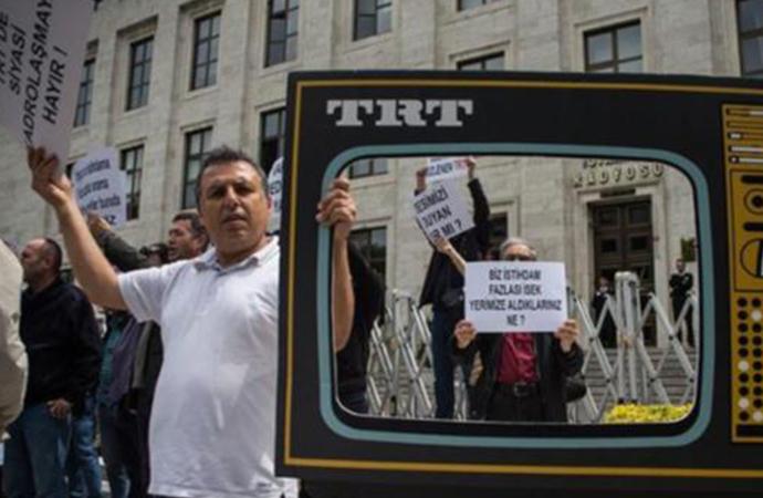 TRT çalışanlarından protesto: Siyasi kadrolaşmaya hayır!