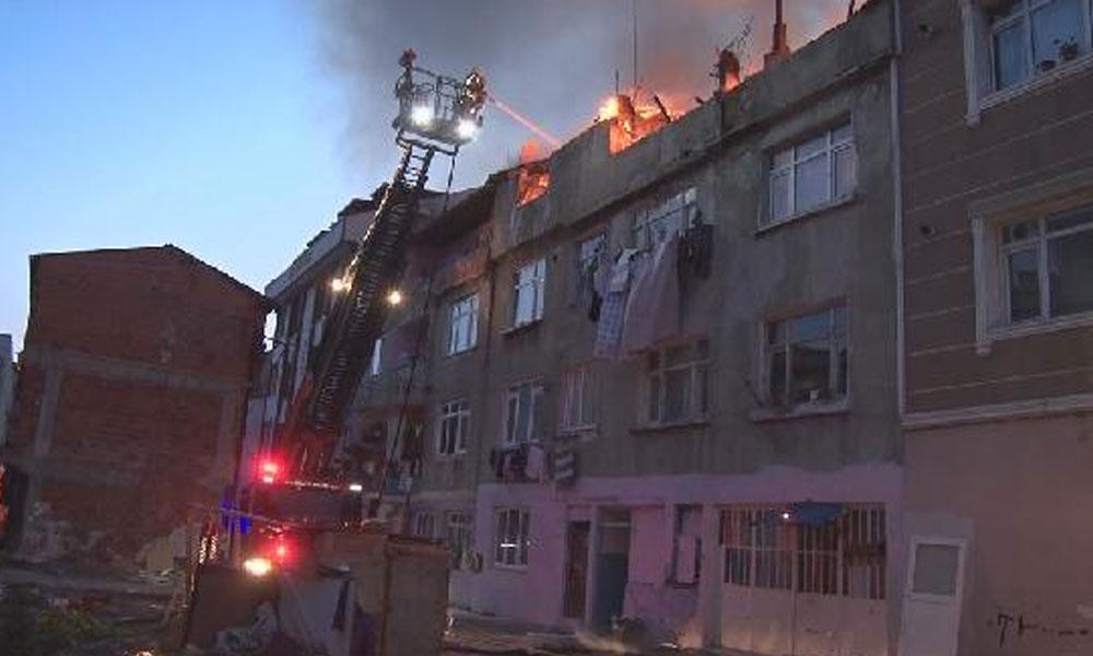 Gaziosmanpaşa'da 4 katlı binada çıkan yangın ile ilgili görsel sonucu