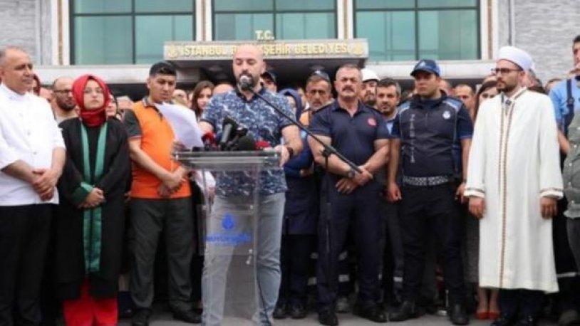 İmamoğlu'ndan İBB önünde bildiri okuyan işçilerle ilgili açıklama