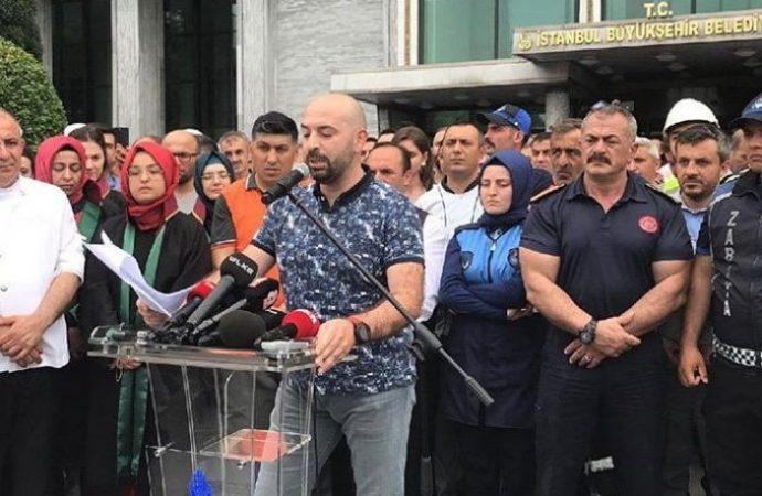 İBB önünde Ekrem İmamoğlu karşıtı eylem yapan çalışanlardan itiraf!