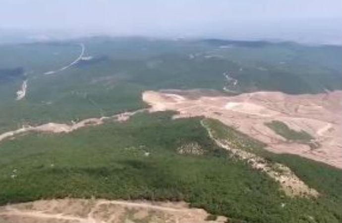 Altın madeni için talan ettikleri Çanakkale'den içler acısı görüntüler