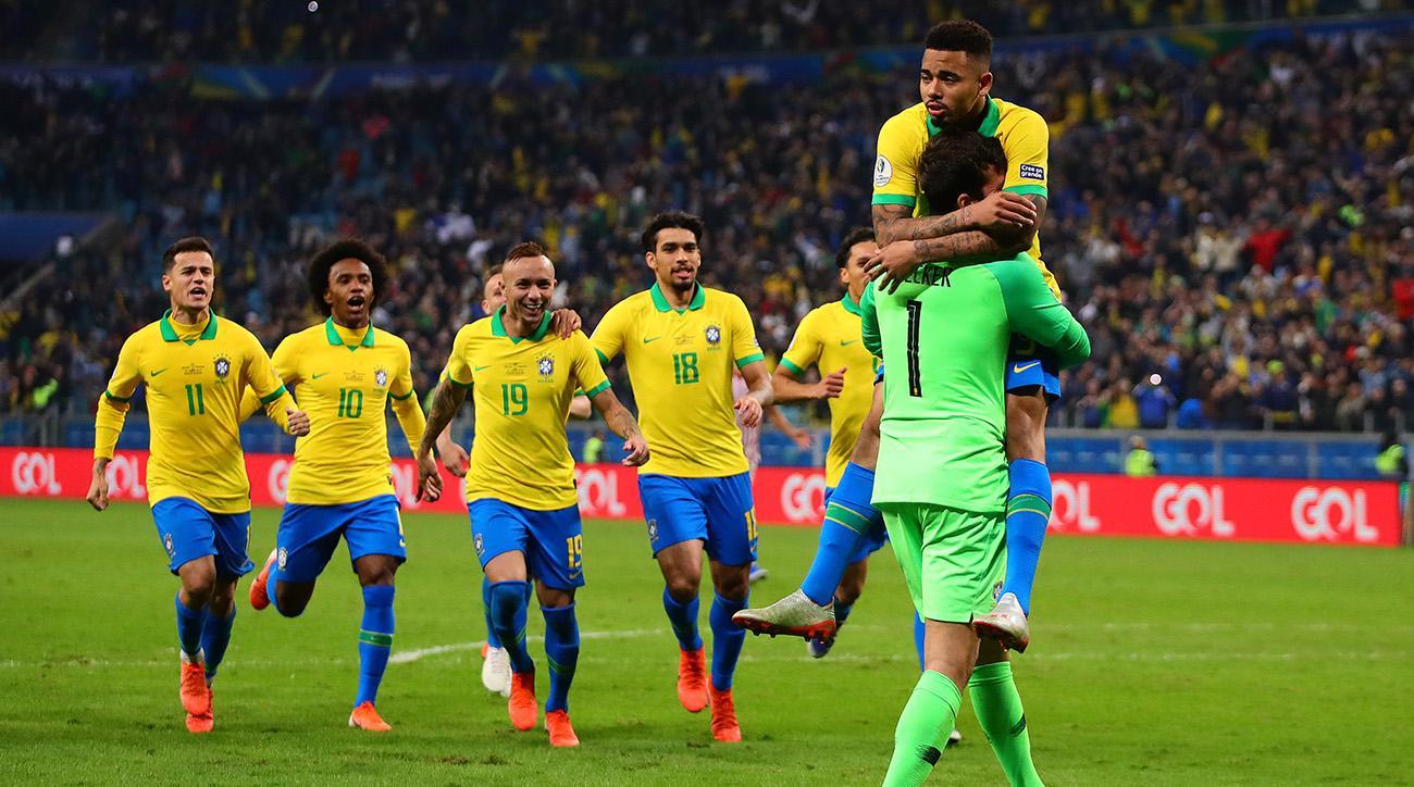 Copa America'da ilk yarı finalist Brezilya oldu