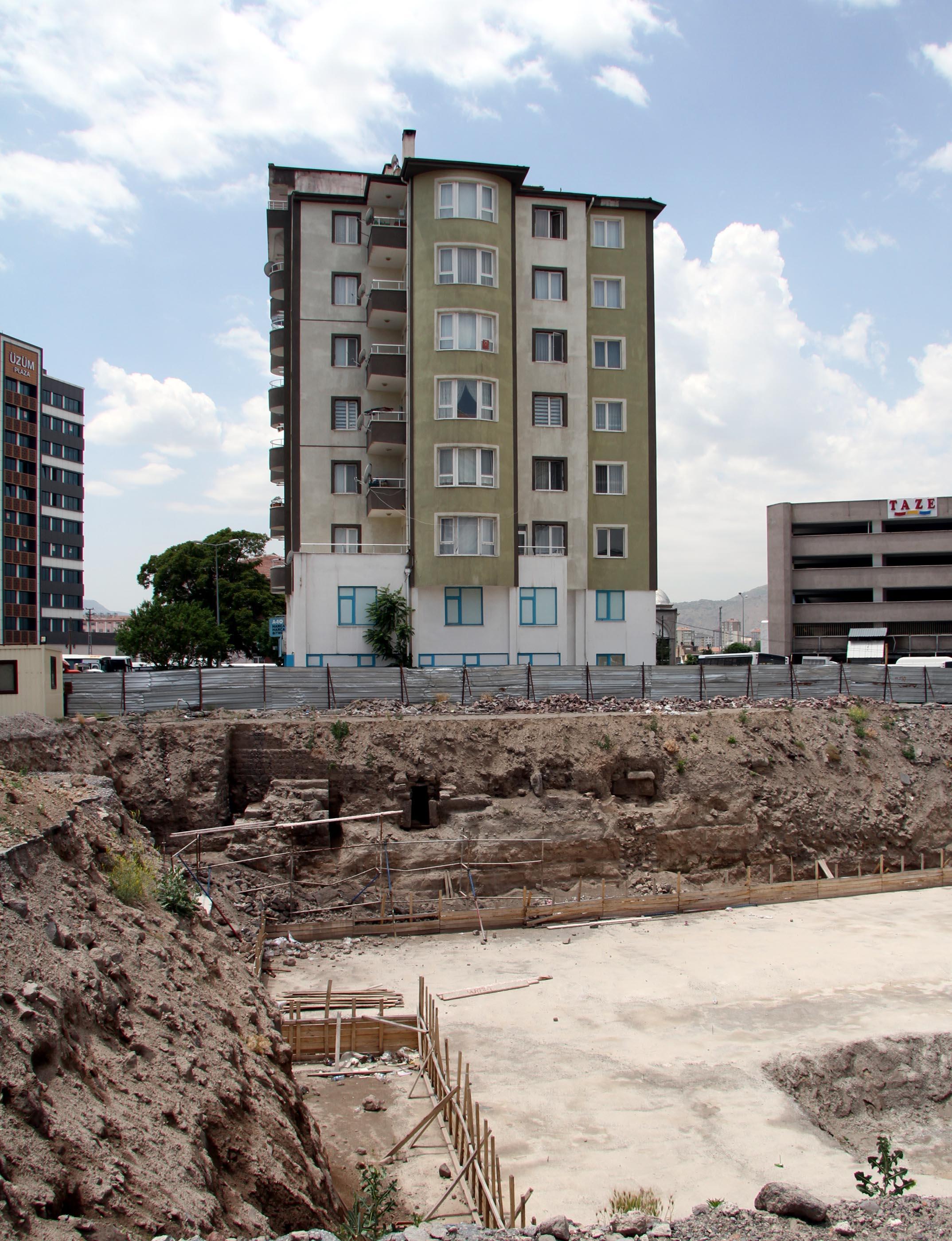 Kayseri'de inşaat sırasında tarihi kalıntılar bulundu