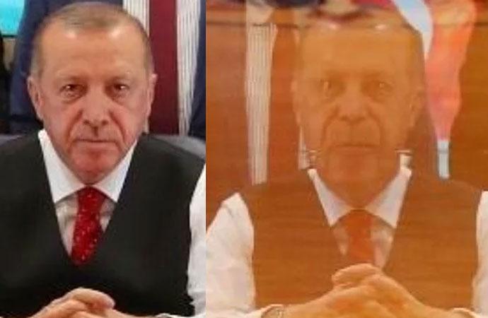 Erdoğan'ın fotoğrafındaki garip yansımanın sırrı çözüldü
