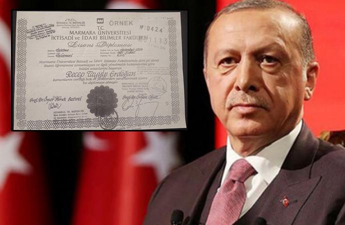 Erdoğan'ın diplomasını görmeden fotokopisini imzalayan Notere uyarı cezası