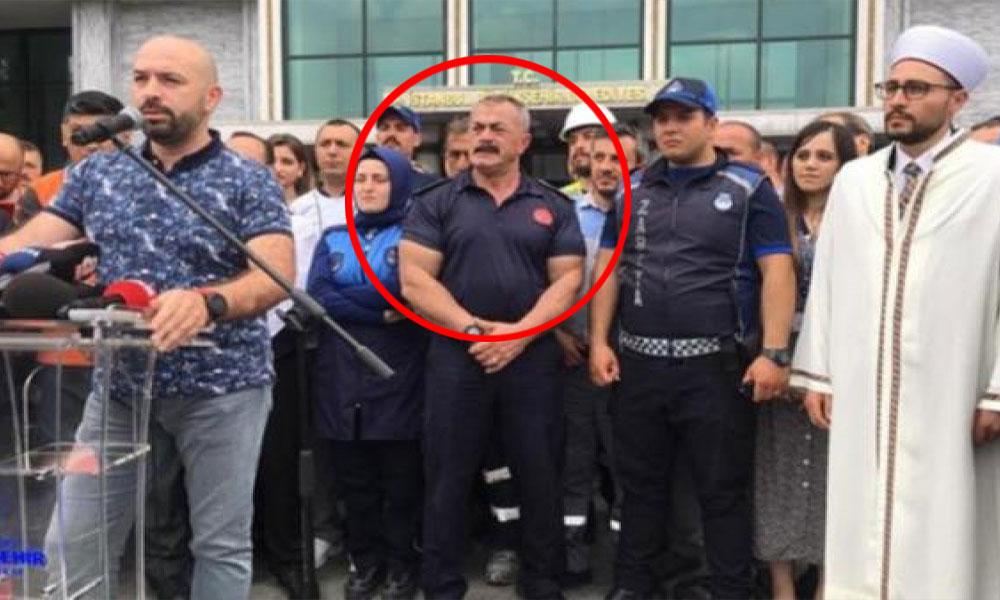 Protestoya katılan itfaiye müdürü rüşvet sanığı çıktı