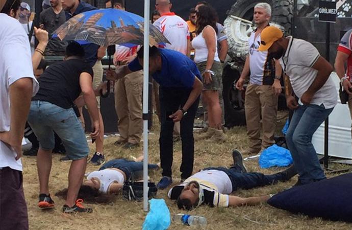 İstanbul'da off-road aracı festivale daldı: Çok sayıda yaralı var!