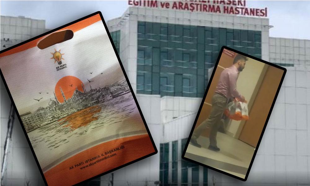 Hastane acil servisinde AKP propagandası