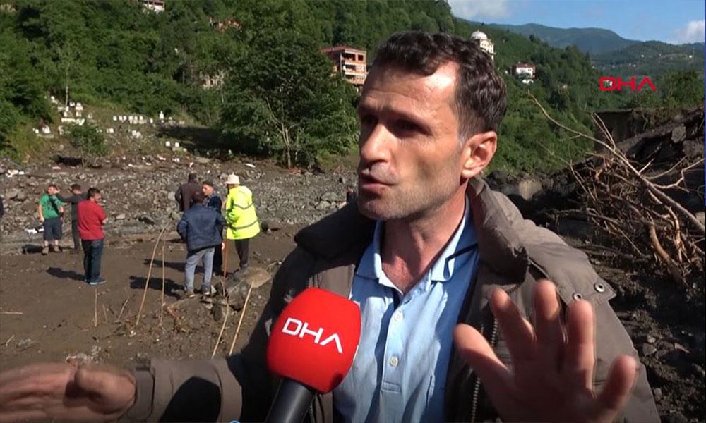 Trabzon'daki sel felaketini böyle anlattı: Belediye görevlilerini, tanıdıklarımızı su aldı götürdü