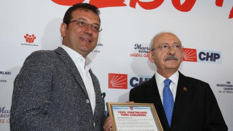 Kemal Kılıçdaroğlu o çerçevenin ilkini Ekrem İmamoğlu'na verdi