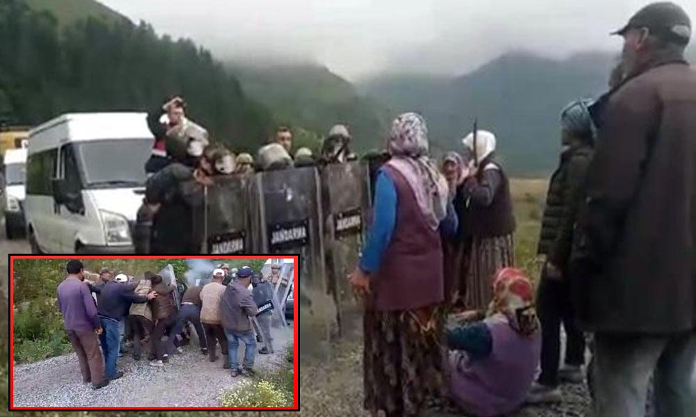 Jandarmadan köylülere biber gazlı müdahale: Yaylamızı elimizden almaya çalışıyorlar