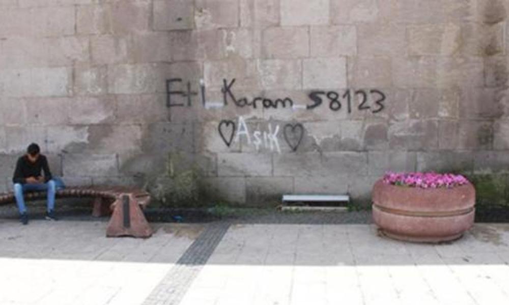 Sivas'ta tarihi medrese duvarına yazı yazan gencin cezası belli oldu!