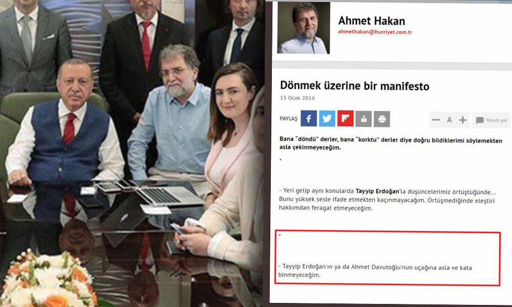 'Asla ve kata binmeyeceğim' dediği halde Erdoğan'ın uçağına binmişti… Ahmet Hakan Demirören Medya'nın başına geçiyor