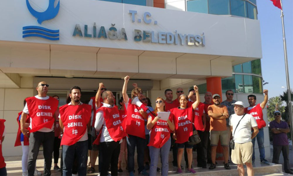Aliağa Belediyesi'nin işten çıkardığı işçilerin direnişi sürüyor!