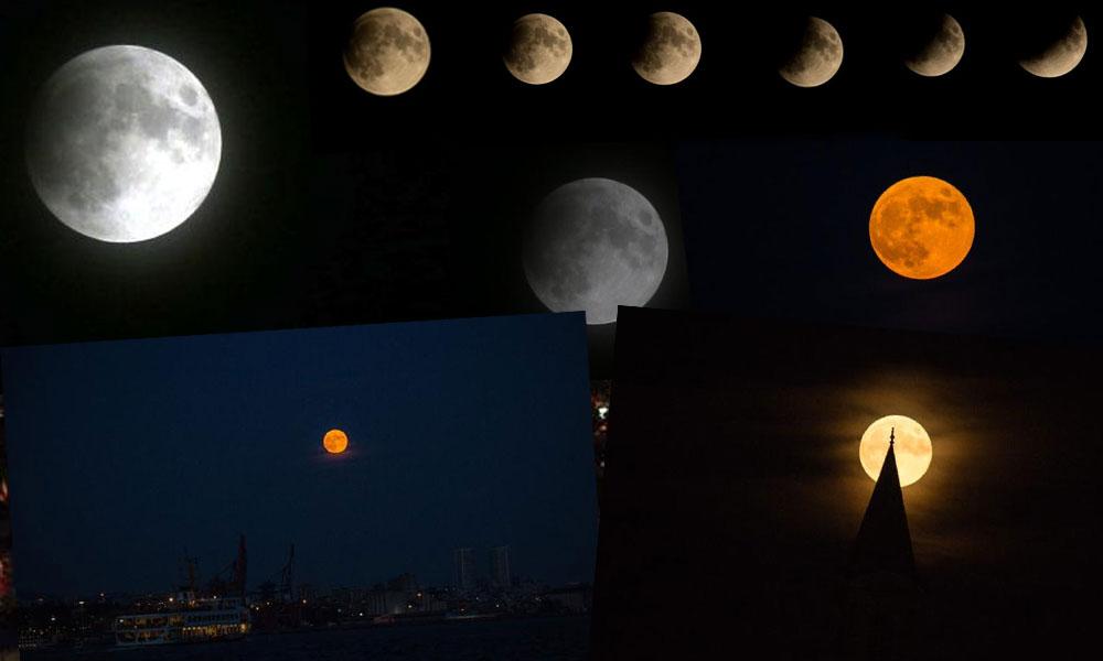 İstanbul semalarında muhteşem görüntü! 'Parçalı Ay Tutulması' böyle gözlendi…