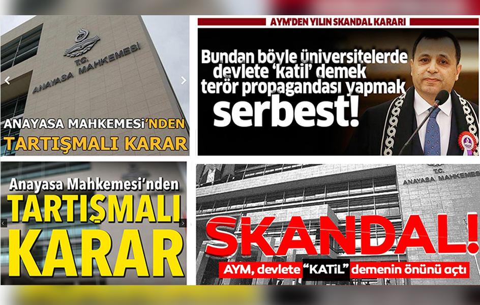 Yandaş medya, AYM'nin 'hak ihlali' kararını böyle gördü!