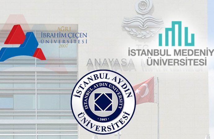 AYM'nin 'Barış Akademisyenleri' kararını üç üniversitenin rektörlüğü kabullenemedi