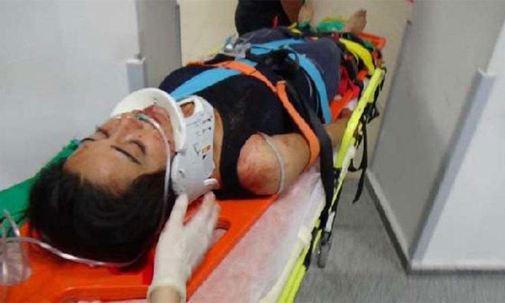 Boğazından bıçaklandı kanlar içinde yardım istedi!