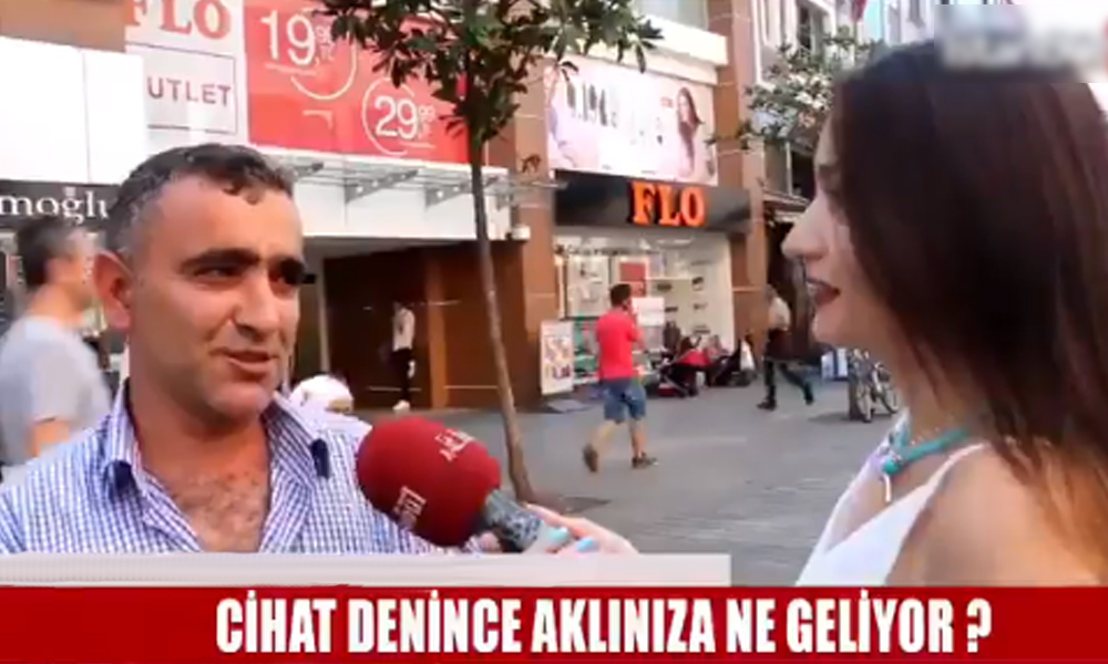 Muhabirin 'cihat' sorusuna, vatandaştan 'erotik' cevabı