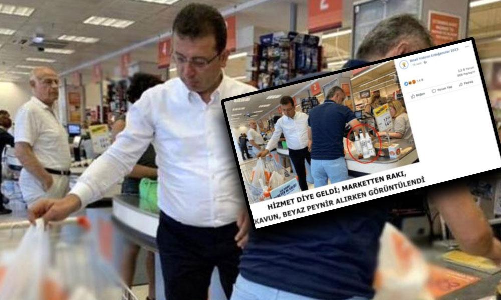AKP'li trollerden Ekrem İmamoğlu'na 'rakı' kumpası