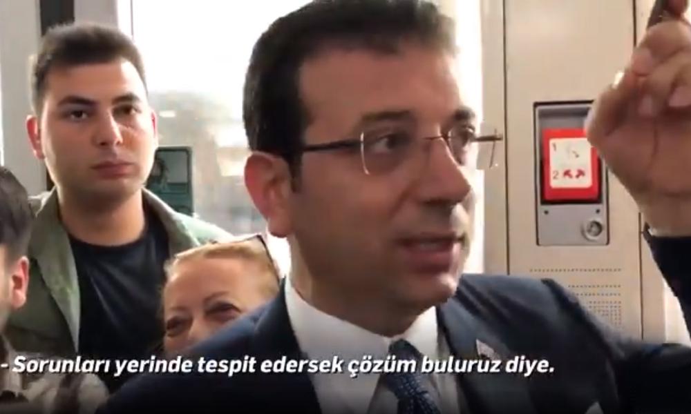 Ekrem İmamoğlu'nun tramvay yolculuğu: Hep hayatın içinde olacağız