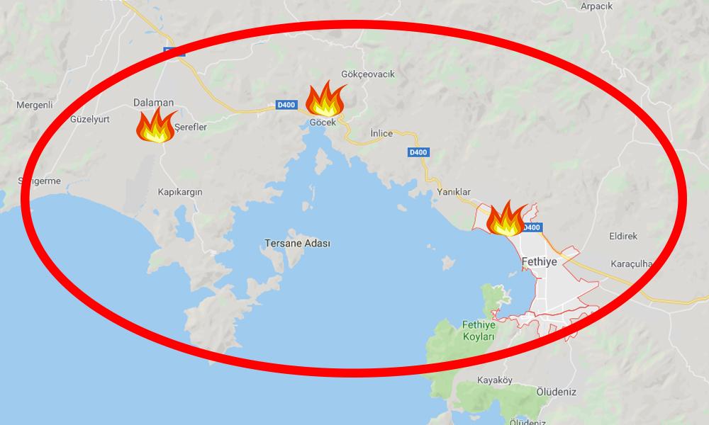 Muğla'da peş peşe yangın! Bu kez de Fethiye'de…