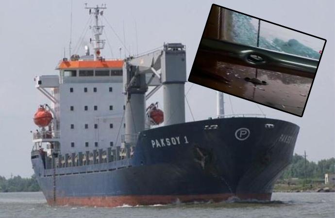 Türk gemicilerin kaçırıldığı geminin içinden görüntüler!