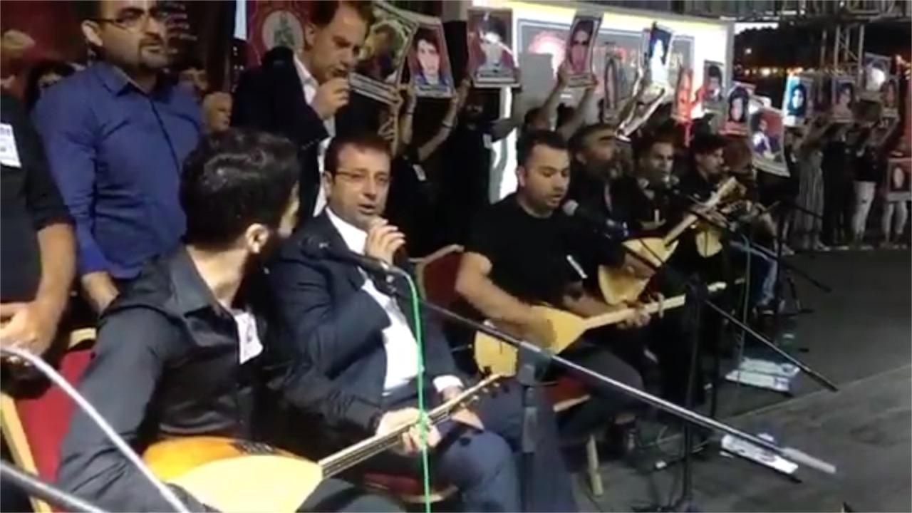 İmamoğlu, Madımak anmasında türkü söyledi