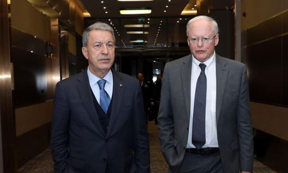 ABD temsilcisiJeffrey ile Milli Savunma BakanıAkar görüşmesi sona erdi: Güvenli bölge görüşmeleri sürecek