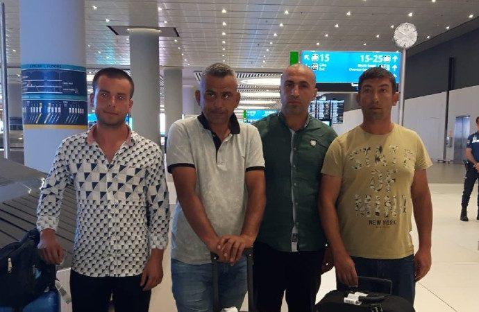 Libya'da alıkonulan 6 Türk gemici İstanbul'da