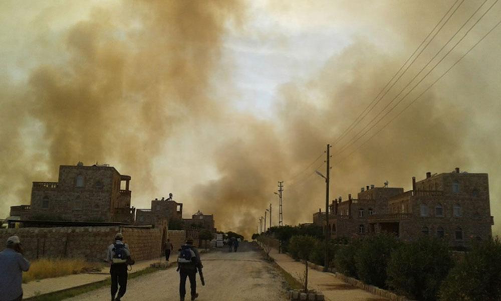 Mardin'in Bagok Dağı'nda büyük yangın! 6 Süryani köyü ve Botaş İstasyonu…