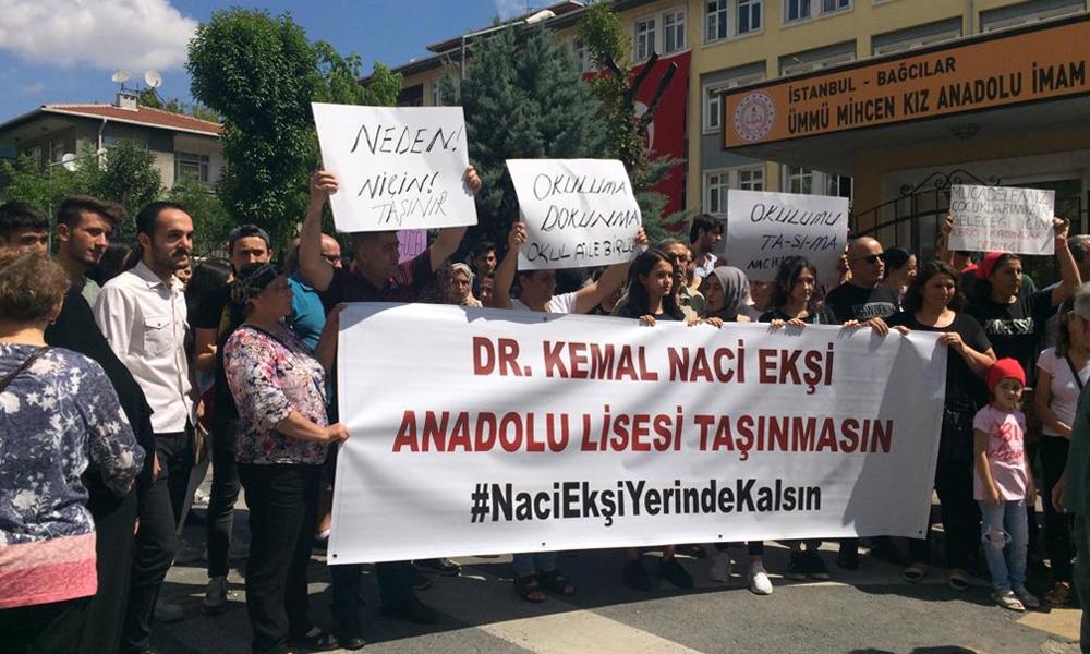 Naci Ekşi Anadolu Lisesinin imam hatibe dönüştürülmesine velilerden tepki