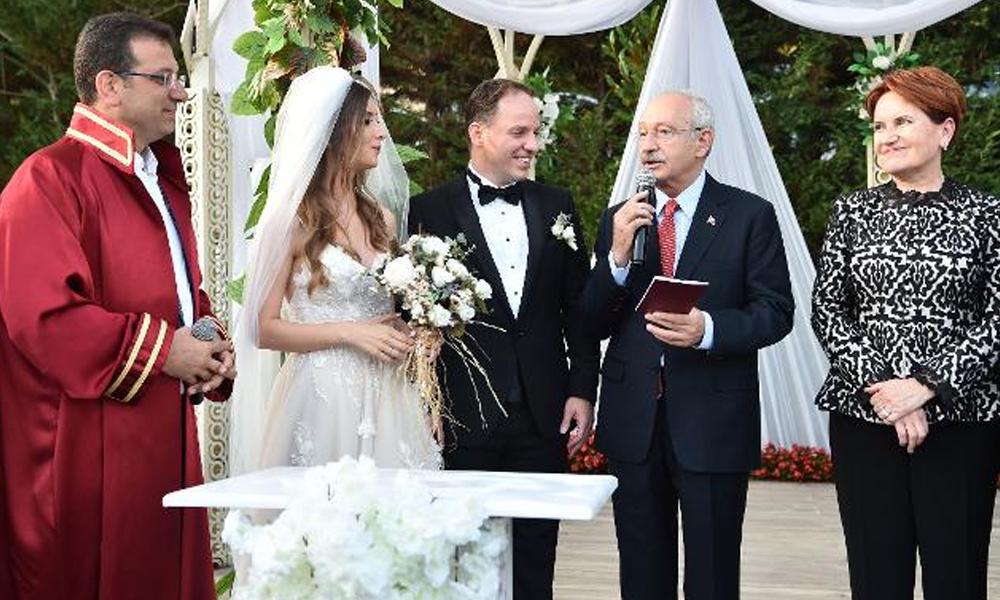 Kılıçdaroğlu, Akşener ve İmamoğlu nikah töreninde buluştu
